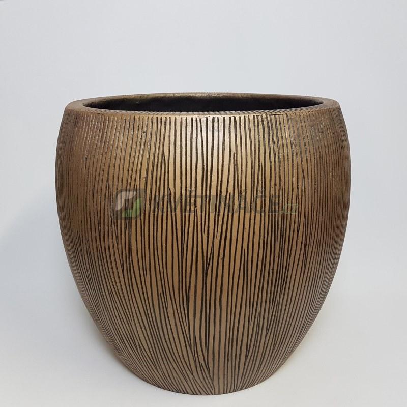 Venkovní květináče - Twist klasik bronzový 42x39cm