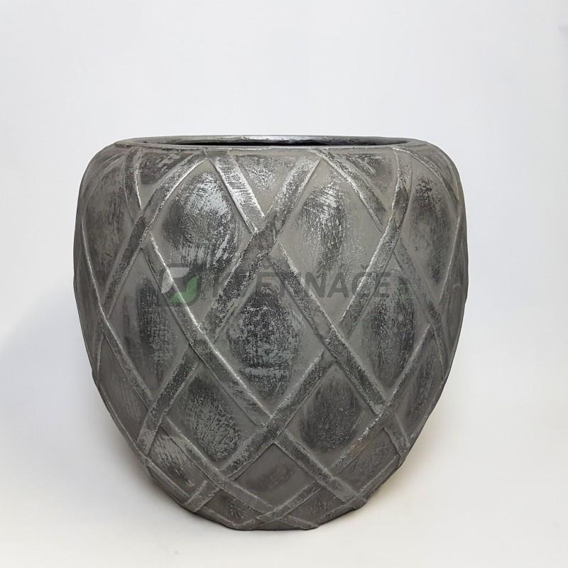 Venkovní květináče - Wire Coppa Silver 73x66cm
