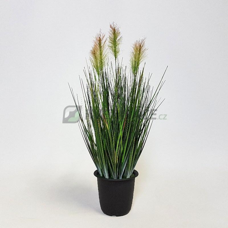 Umělé květiny - Grass Plant Green 45cm