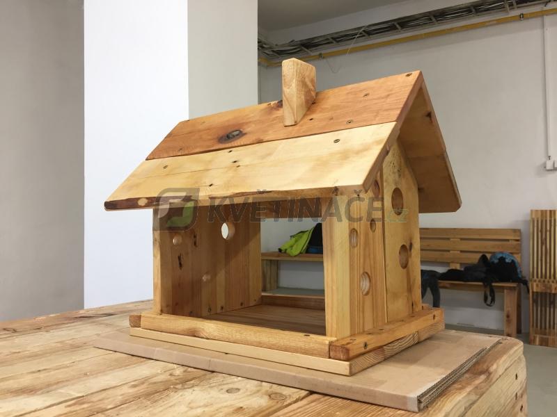 Nábytek z palet - Ptačí krmítko z palet Euro Wood 40x20x35cm