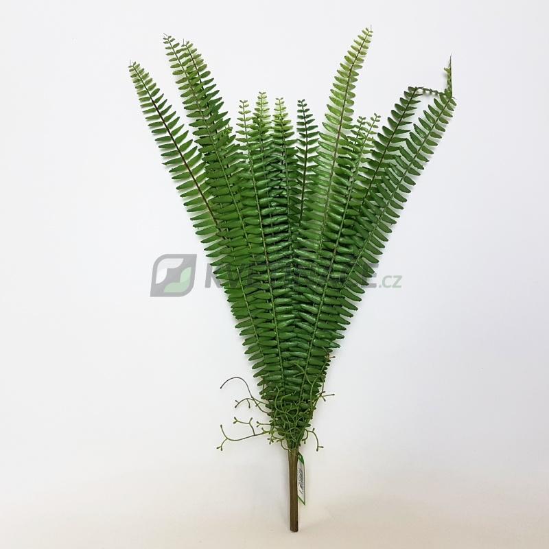 Umělé květiny - Umělé kapradí nephrolepis 15 listů 60cm