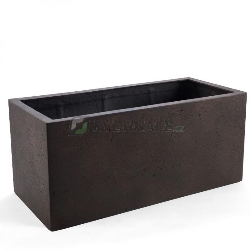 Venkovní květináče - D-lite truhlík XXL Rusty Iron Concrete 150x50x50cm