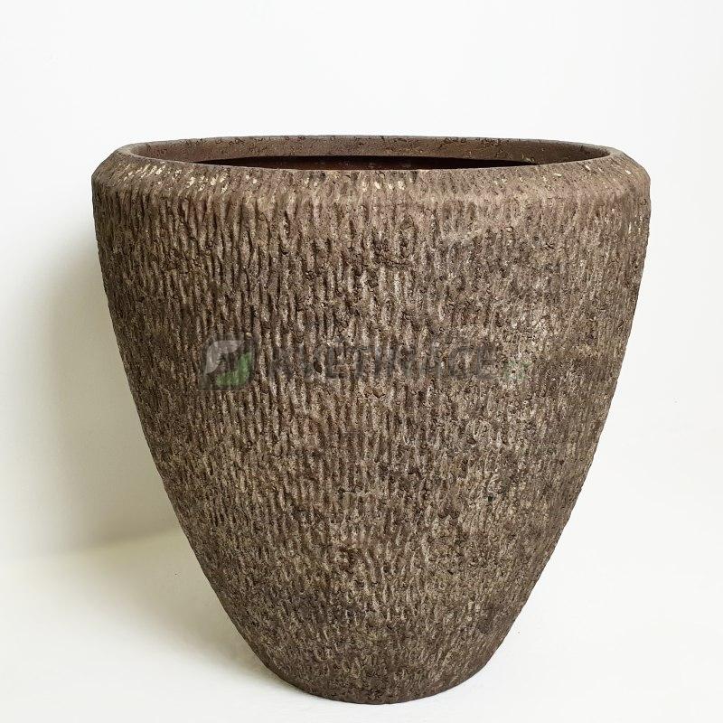 Luxusní květináče - Polystone Rock Couple 50x50cm