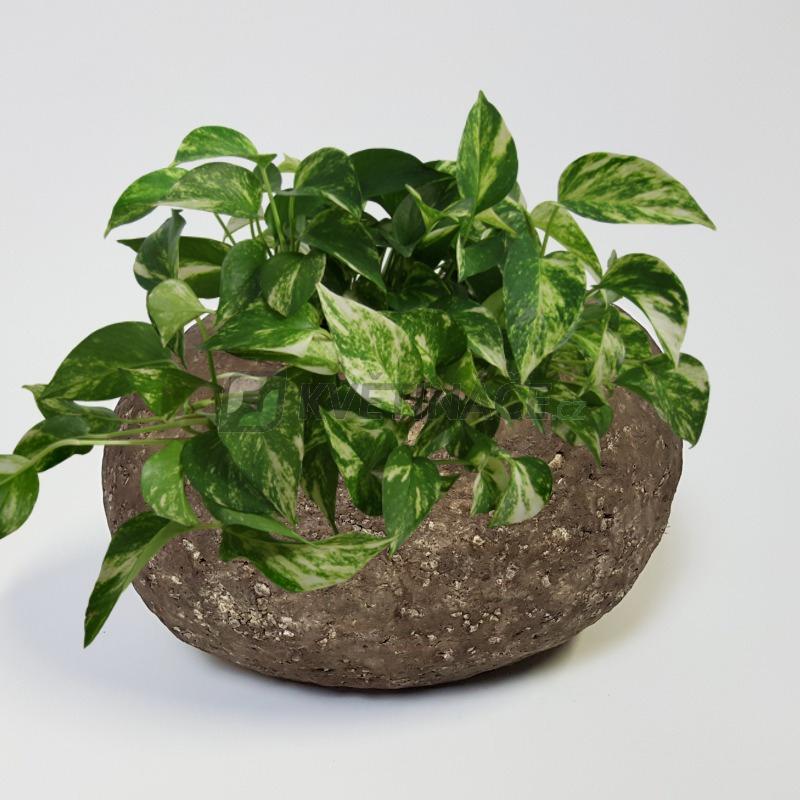 Luxusní květináče - Polystone Rock Findling 40x32x22cm