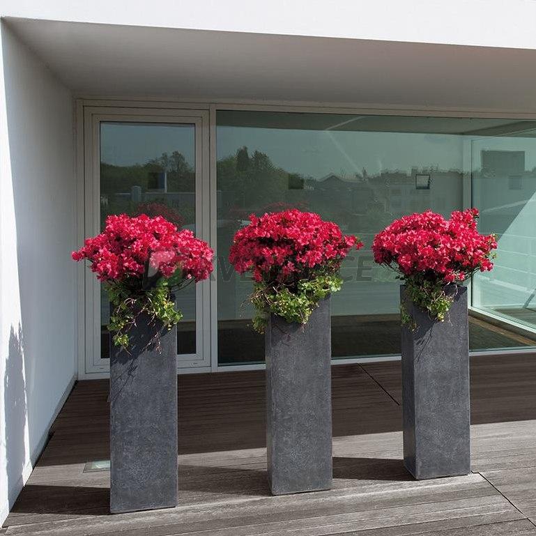 Venkovní květináče - Division Plus Antracit 35x35x100cm
