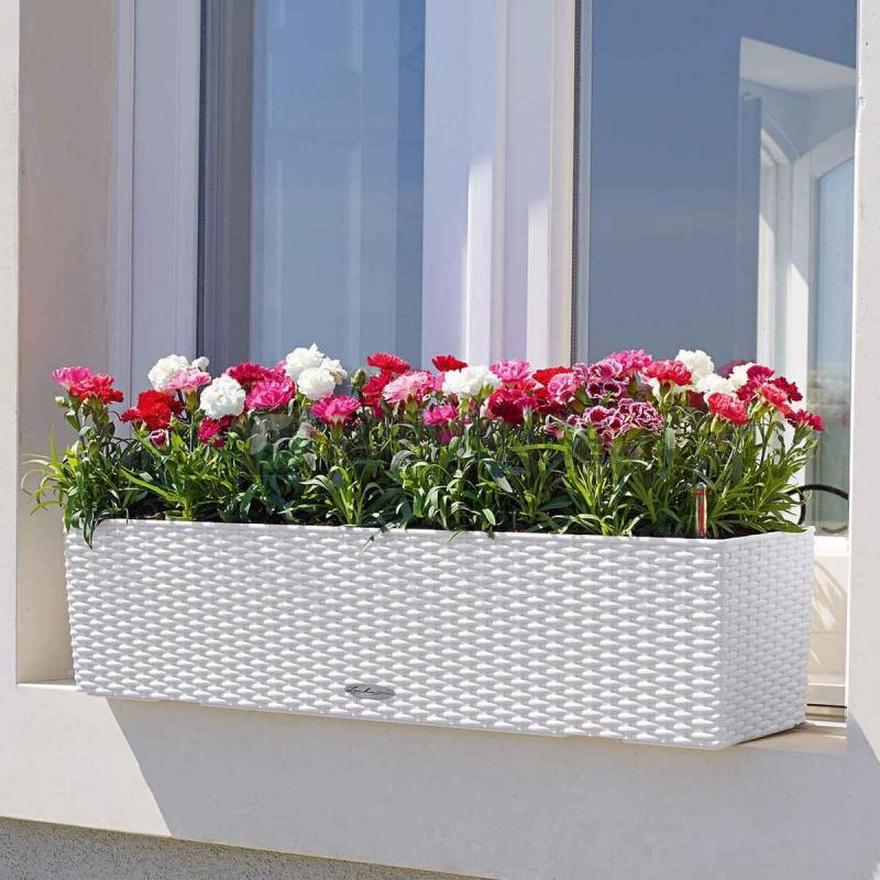Lechuza květináče - Lechuza Balconera Cottage 80 White komplet