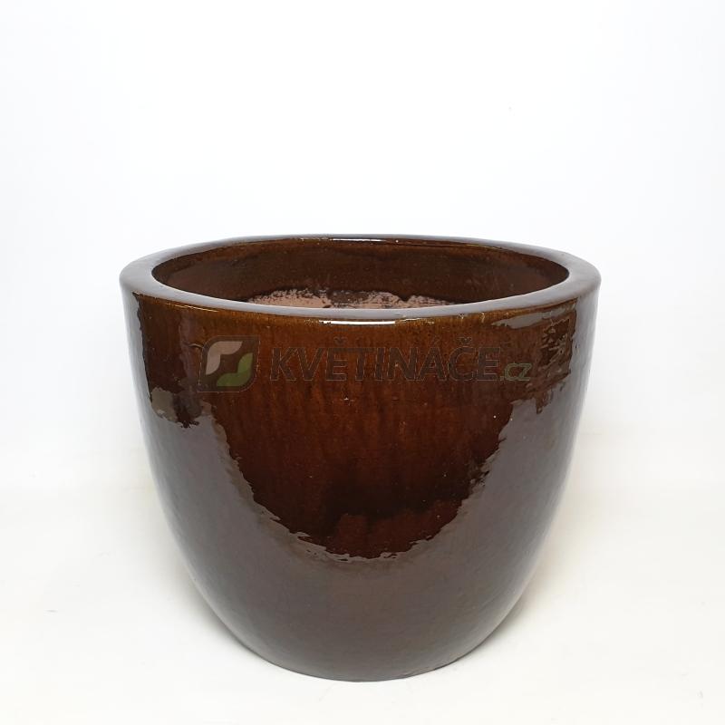 Keramické květináče - Brown Couple Extra 39x34cm