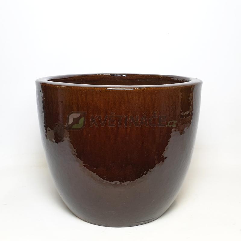 Keramické květináče - Brown Couple Extra 46x43cm