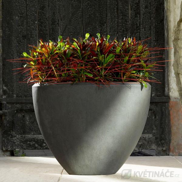 Luxusní květináče - Polystone Smoke Oval 52x24x40cm