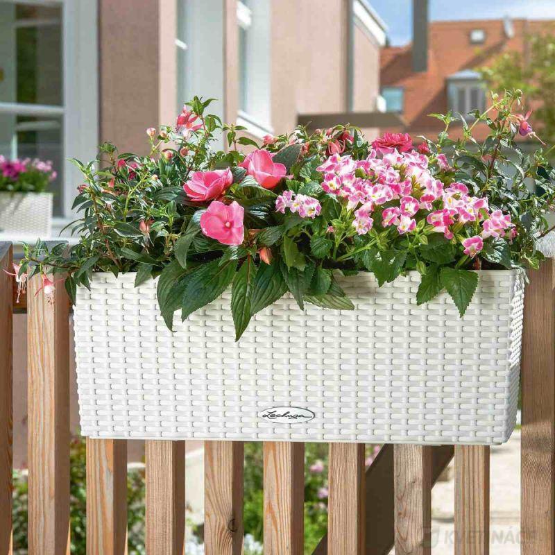 Lechuza květináče - Lechuza Balconera Cottage 50 White komplet