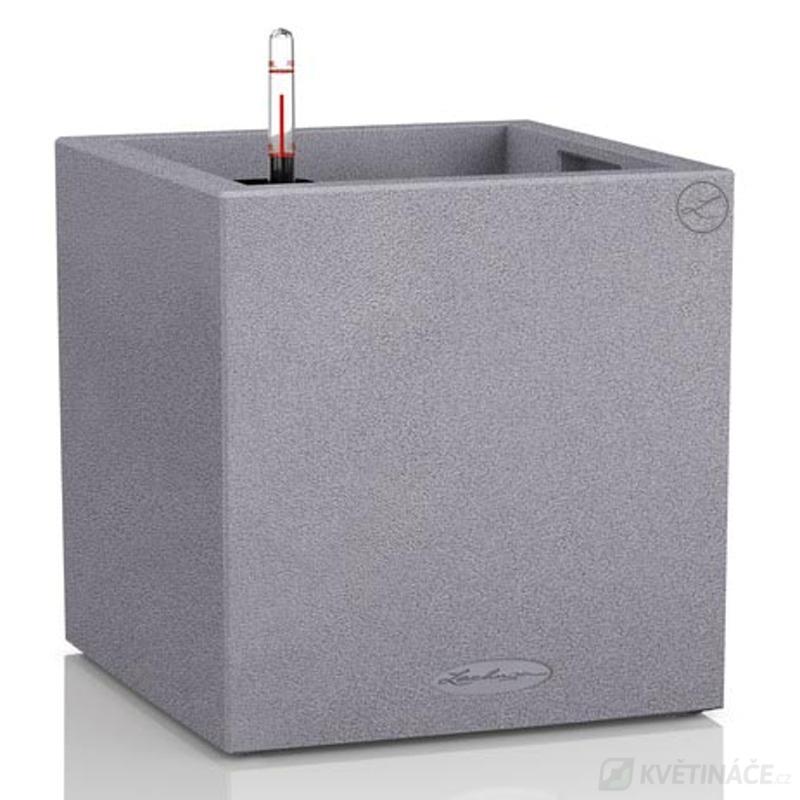 Lechuza květináče - Lechuza Canto Stone Square 40 Grey komplet