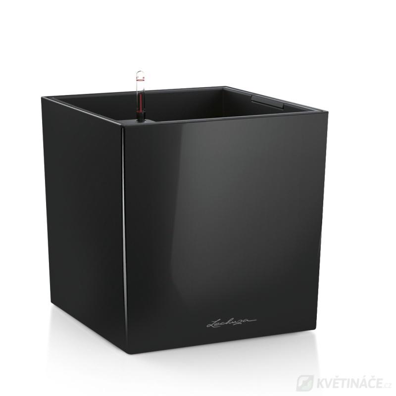 Lechuza květináče - Lechuza Cube Premium 40 Black komplet