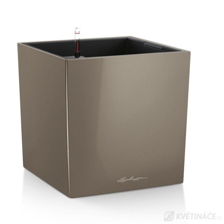 Lechuza květináče - Lechuza Cube Premium 50 Taupe komplet