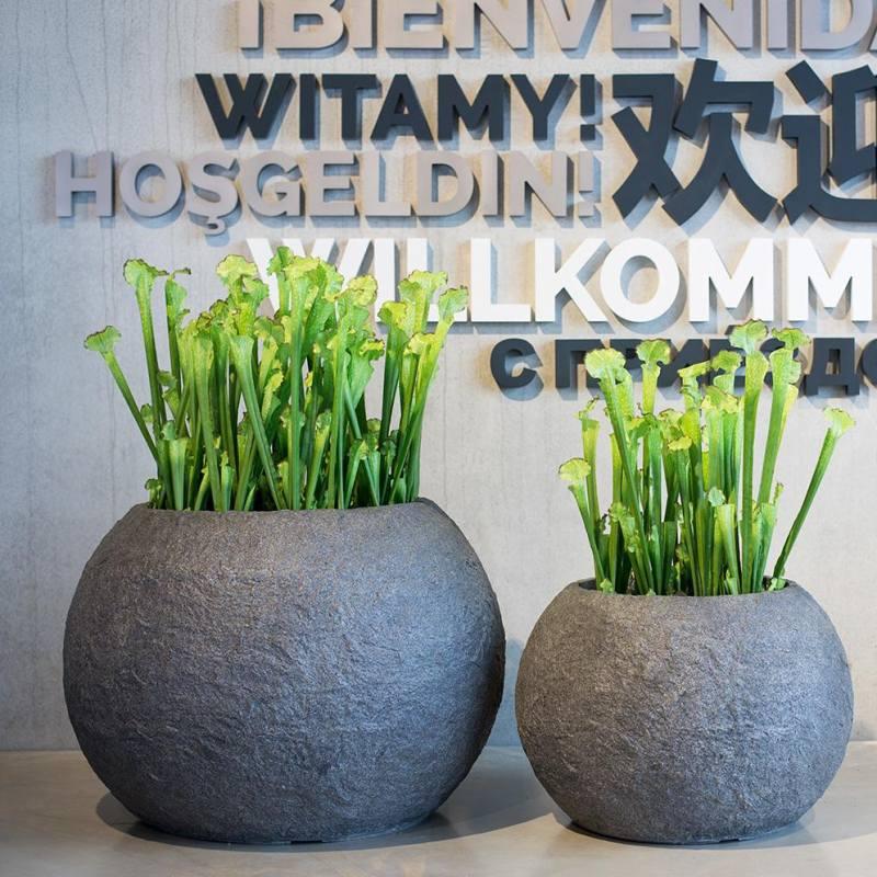 Venkovní květináče - Rocky bowl smoke 80x57cm