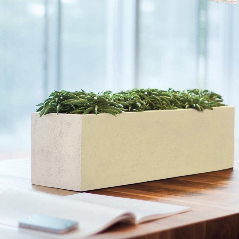 Venkovní květináče - Divide truhlík Creme 65x18x18cm