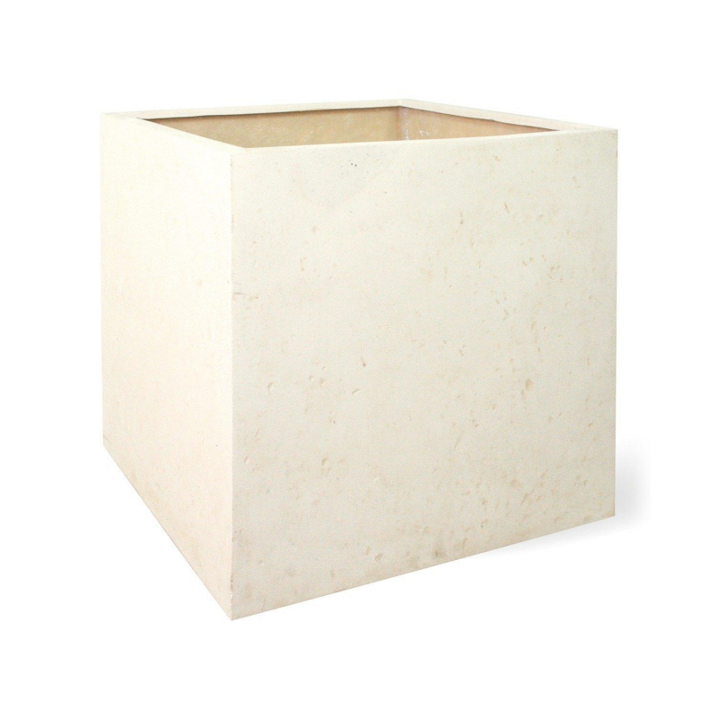 Venkovní květináče - Square Creme 18x18x18cm