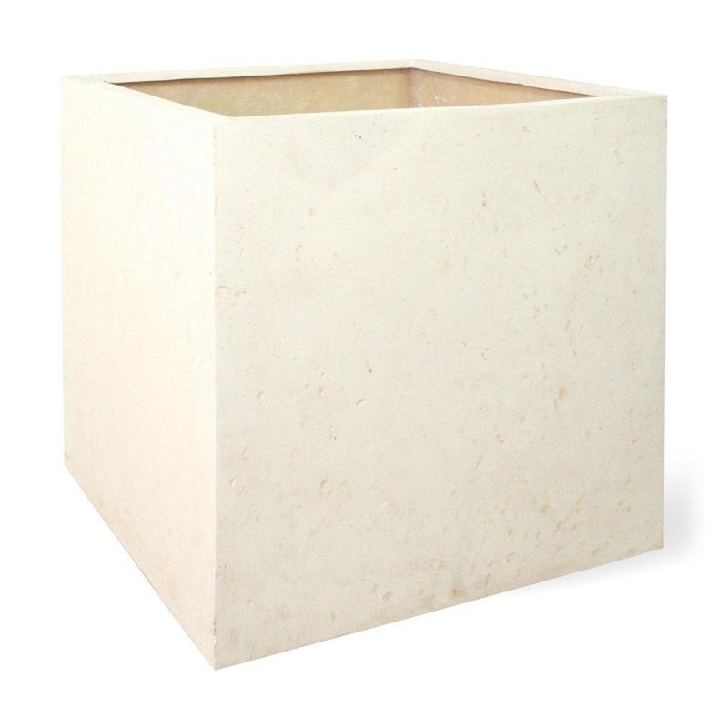 Venkovní květináče - Square Creme 60x60x60cm