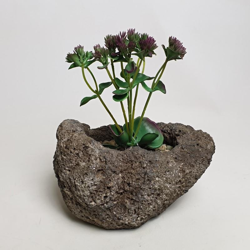 Umělé květiny - Umělý sukulent 19cm