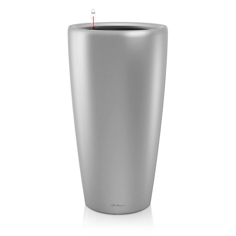 Lechuza květináče - Lechuza Rondo 40 Silver komplet