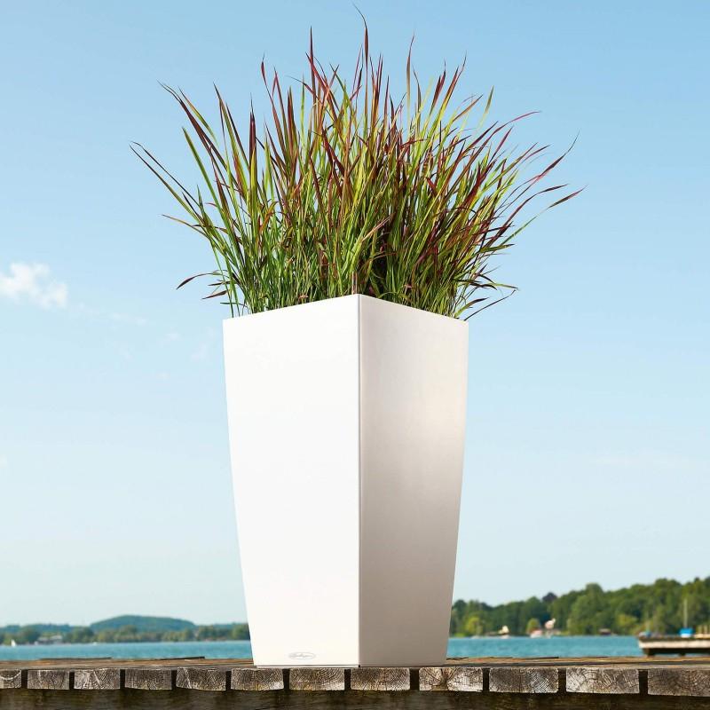 Lechuza květináče - Lechuza Cubico Trend 40 White komplet