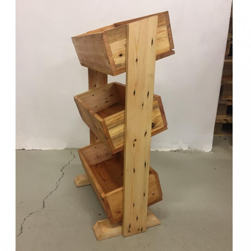 Nábytek z palet - Úložný box z palet Euro Wood 40x40x80cm