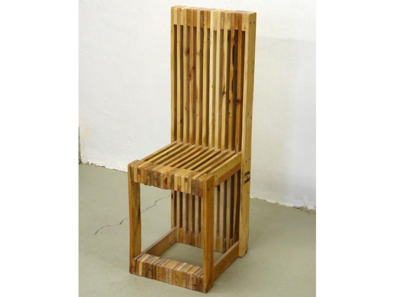 Nábytek z palet - Židle z palet Euro Wood 37x43x110cm