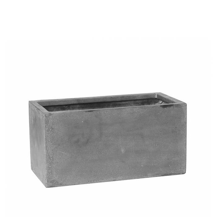 Venkovní květináče - Fiberstone truhlík Grey 40x20x20cm