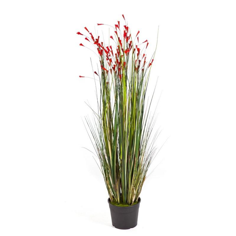 Umělé květiny - Grass Coral Red 120cm