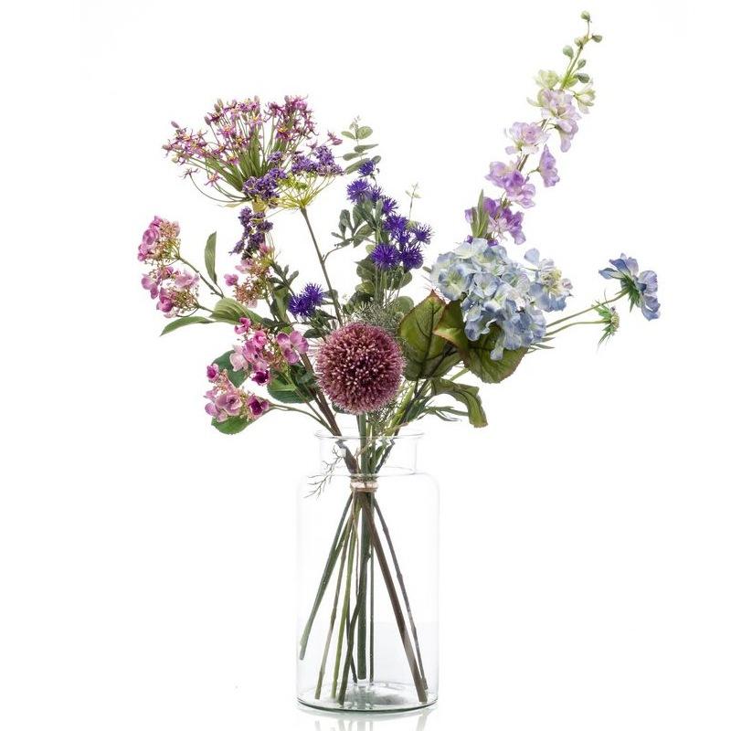 Umělé květiny - Umělá kytice pastelový mix XL 10 stonků