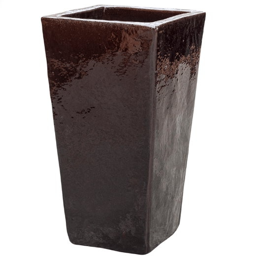 Keramické květináče - Brown Kubis 33x33x60cm
