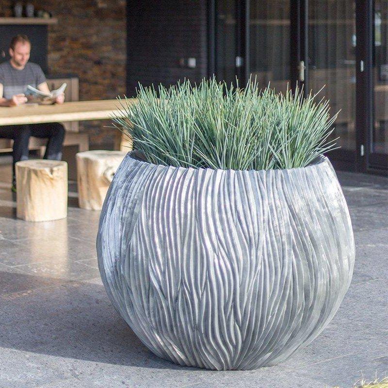 Luxusní květináče - River Bowl Aluminium 120x90cm