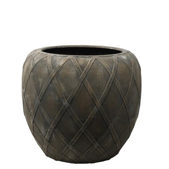 Venkovní květináče - Wire Coppa Bronze 55x50cm