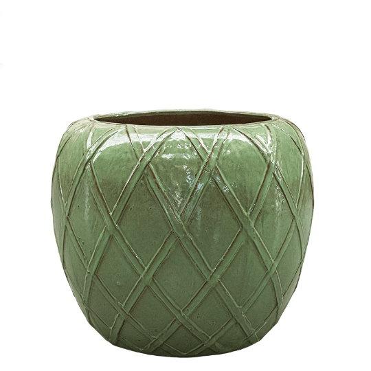 Venkovní květináče - Wire Coppa Green 68x59cm