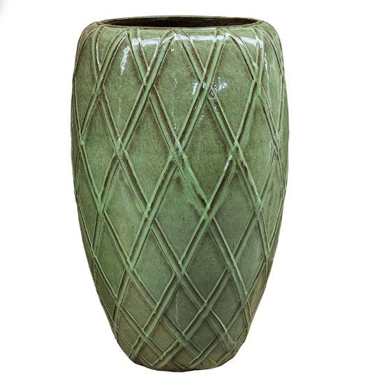 Venkovní květináče - Wire Coppa Green 52x81cm