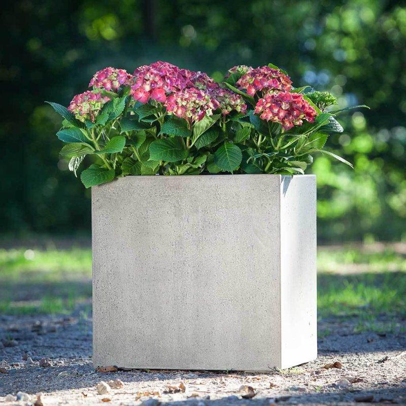 Venkovní květináče - D-lite Cube M Concrete 40x40x40cm