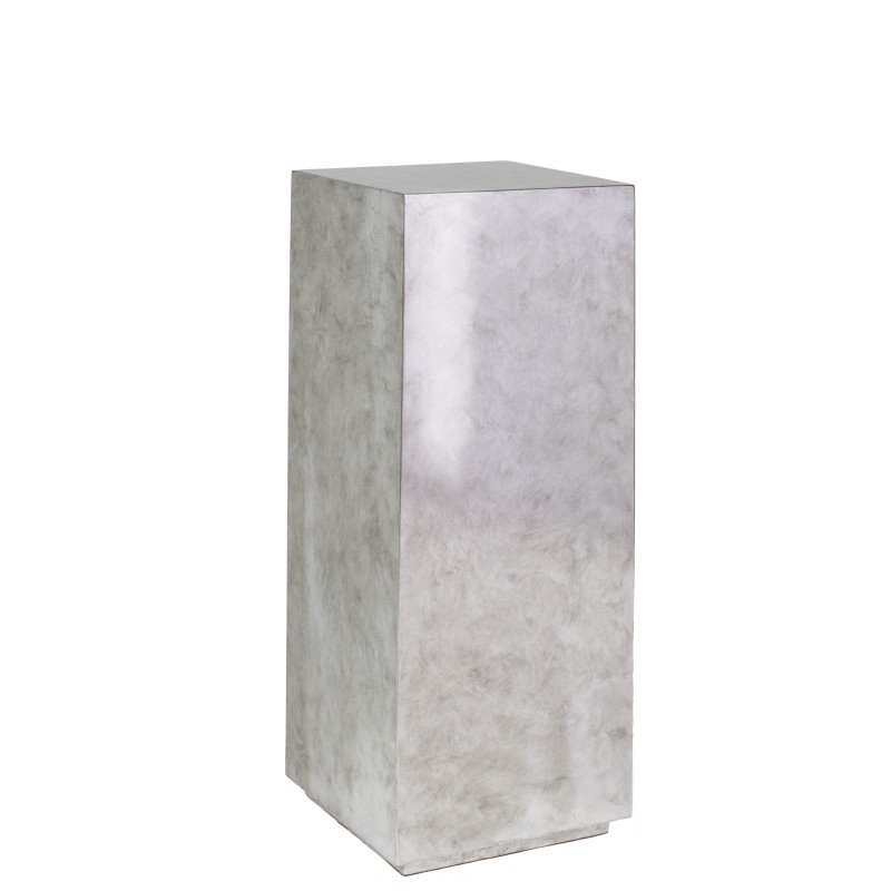 Luxusní květináče - Pandora Silver Leaf Pedestal 30x30x80cm