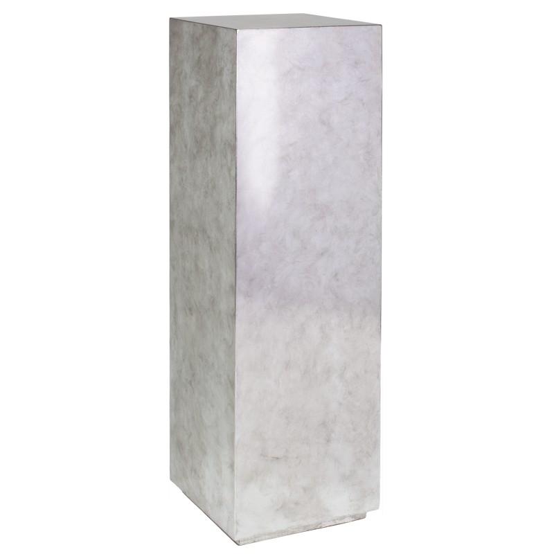 Luxusní květináče - Pandora Silver Leaf Pedestal 30x30x100cm