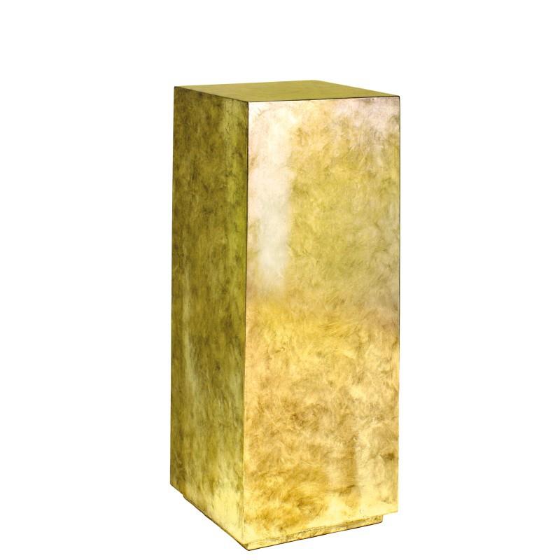 Luxusní květináče - Pandora Gold Leaf Pedestal 30x30x80cm