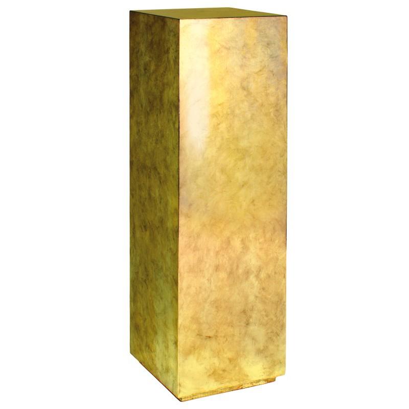 Luxusní květináče - Pandora Gold Leaf Pedestal 30x30x100cm