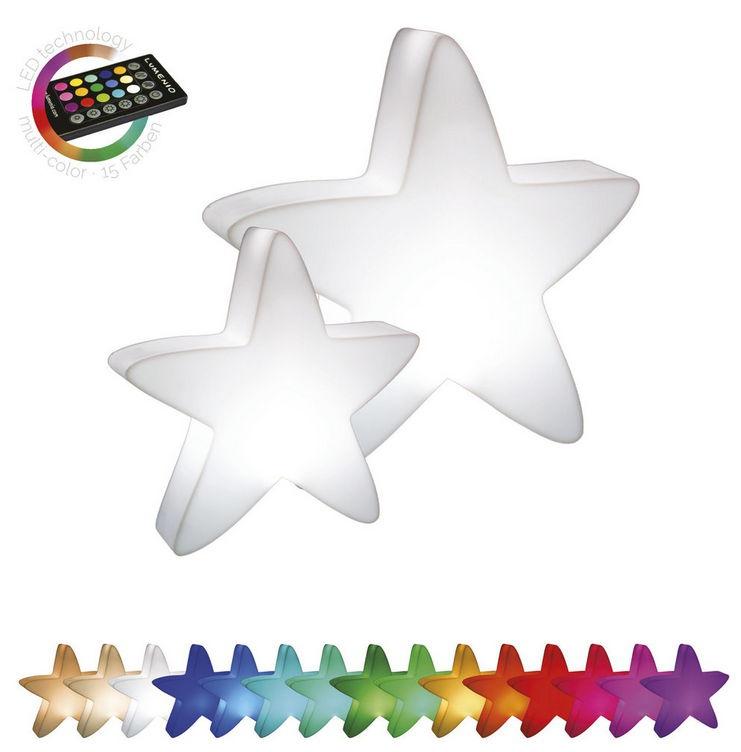 Svítící květináče - Svítící hvězda LED mini 51x13x50cm