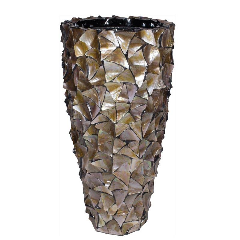 Luxusní květináče - Shell Brown Partner 40x77cm