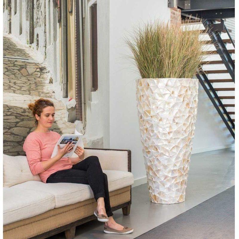 Luxusní květináče - Shell White Partner 70x140cm