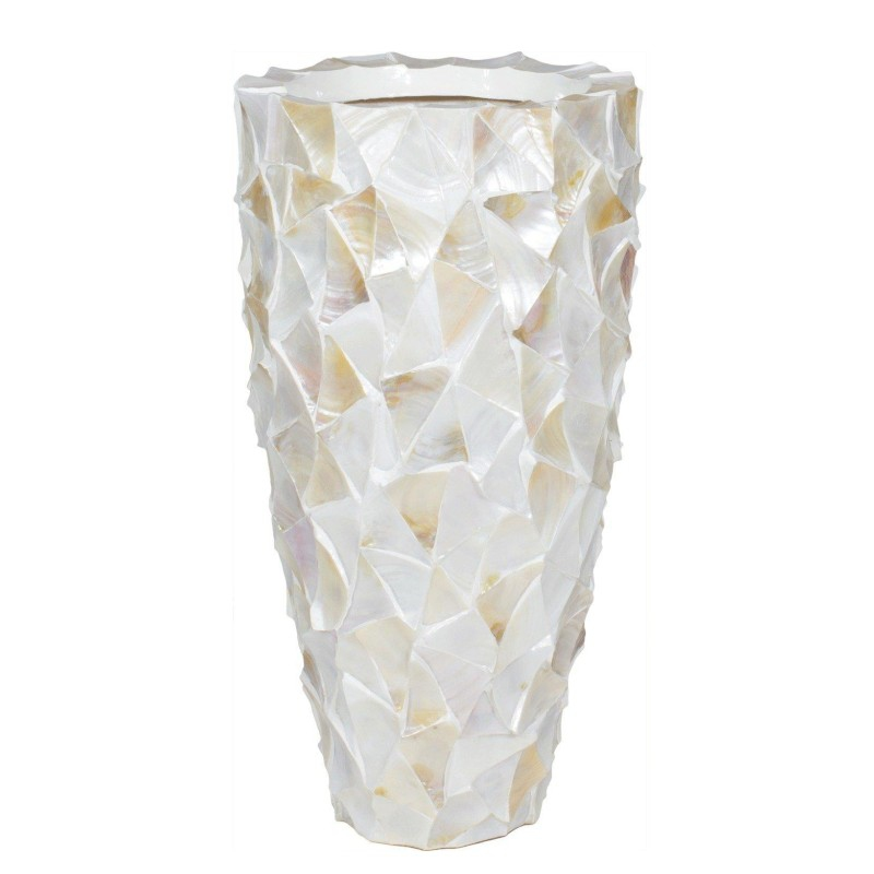 Luxusní květináče - Shell White Partner 40x77cm
