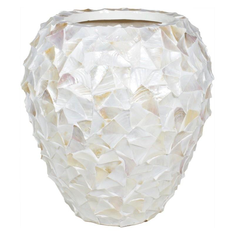 Luxusní květináče - Shell White 74x80cm