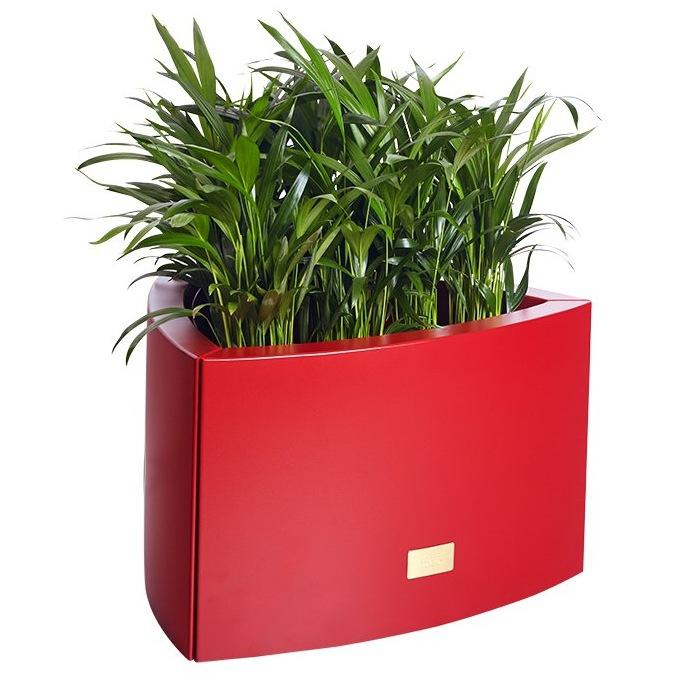 Kovové květináče - Květináč Kasper Triangle S červený 57x60xV37cm
