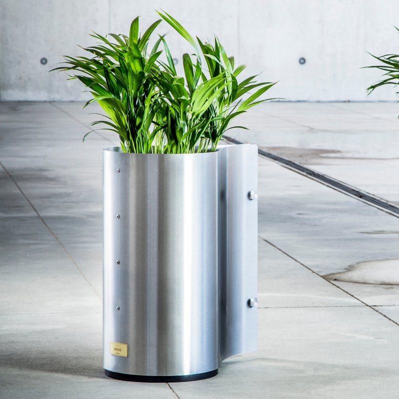 Kovové květináče - Kasper Drop nerez 53x32xV60cm