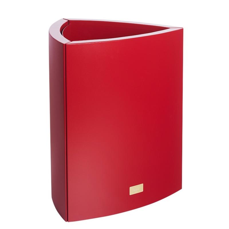 Kovové květináče - Květináč Kasper Triangle L červený 57x60xV73cm