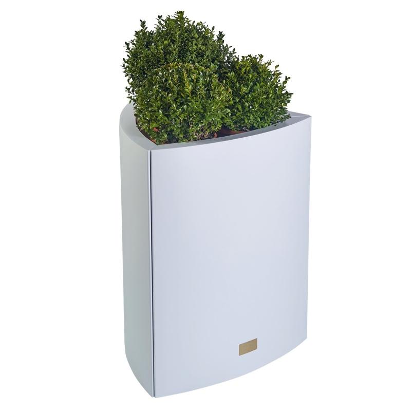 Kovové květináče - Květináč Kasper Triangle L bílý 57x60xV73cm