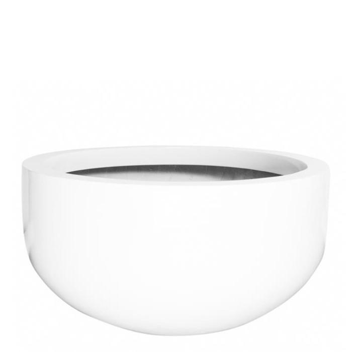 Venkovní květináče - Fiberstone City White Glossy 110x60cm