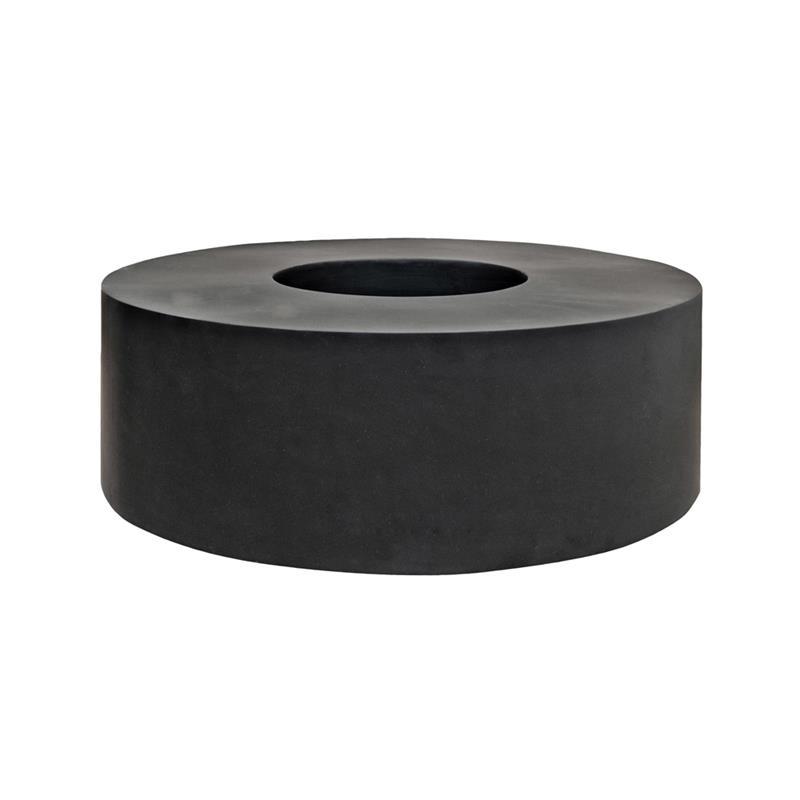 Venkovní květináče - Fiberstone Jumbo Seating Round Black 140x48cm